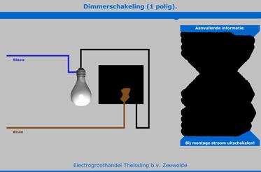 dimmerschakeling 1 polig